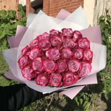 Букет из 25 фиолетовых роз 1194