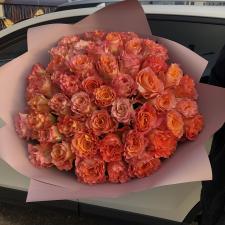 Букет из 51 оранжевой розы 1203