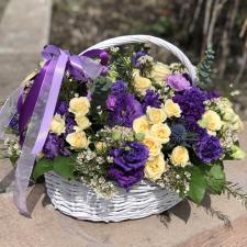 Корзина микс с цветами 1403