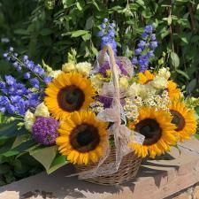 Корзина с цветами 1498