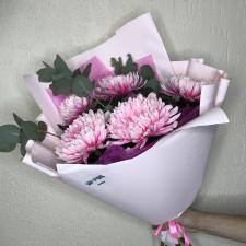 Букет из розовых хризантем Антонов