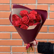 Букет из 11 красных роз 1906