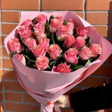 Букет из 25 розовых роз 1987