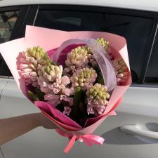 Букет розовых гиацинтов 498