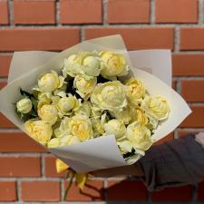 Букет пионовидных лимонных роз Джульетта 2072