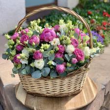Цветы в корзине 2084