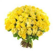 Букет из 101 желтой розы 378