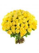 Букет из 75 желтых роз