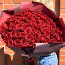 Букет из 75 красных роз 572