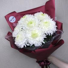 Букет из белых хризантем Магнум