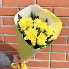 Букет из желтых хризантем Зембла 591