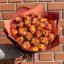 Букет из 25 оранжевых роз 885